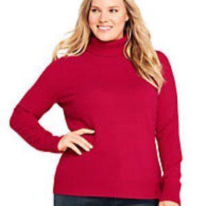 Lands' End Women's Plus Size Cashmere Turtleneck